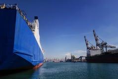 Puerto del cargo Fotografía de archivo libre de regalías