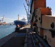 Puerto del cargo fotos de archivo