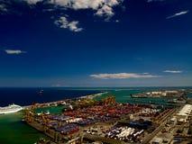 Puerto del cargo Foto de archivo libre de regalías