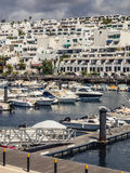 Puerto del Carmen harbour Royalty Free Stock Photography