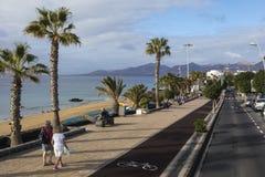 Puerto Del Carmen in Lanzarote Stockbild