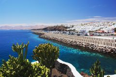 Puerto del Carmen, Lanzarote Fotografía de archivo libre de regalías