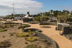 Puerto Del Carmen, Lanzarote, Spain. Promenade of the Puerto del Carmen seafront in Lanzarote, Spain Stock Photography