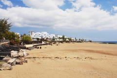 Puerto del Carmen, Lanzarote. View of the beach in Puerto del Carmen, Lanzarote Stock Photo