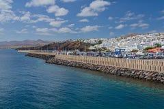 Puerto del Carmen panorama Lanzarote Spain Royalty Free Stock Photos