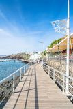 Boardwalk in Puerto del Carmen, Lanzarote, Spain stock photo