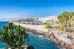 Boardwalk in Puerto del Carmen, Lanzarote, Spain Stock Image