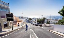 Street view in Puerto del Carmen, Lanzarote Royalty Free Stock Photography