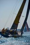 Puerto del comienzo de la raza del océano de Volvo nuevo Imagenes de archivo