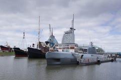 Puerto del museo de Bremerhaven Foto de archivo libre de regalías