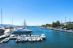 Puerto del ocio en Alghero, Cerdeña, Italia Imagen de archivo