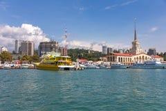 Puerto del pasajero de Sochi Imagen de archivo