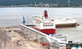Puerto del pasajero de Tallinn Foto de archivo