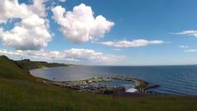 Puerto del pueblo de Kaseberga almacen de metraje de vídeo