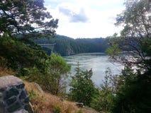 Puerto del roble del paso de la canoa, Washington State Foto de archivo libre de regalías