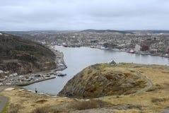 Puerto del St. Johns, Terranova, Canadá Imagen de archivo libre de regalías