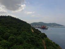 Puerto del transporte en el mar Imagen de archivo libre de regalías