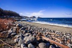 Puerto del utoro de Hokkaido en Japón fotografía de archivo