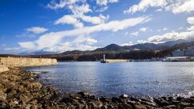 Puerto del utoro de Hokkaido en Japón fotos de archivo