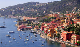 Puerto del Villefranche-sur-Mer, corral D'Azur, o del sur Fotografía de archivo libre de regalías