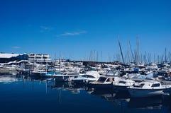 Puerto del yate de Cannes, Francia fotografía de archivo libre de regalías