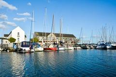 Puerto del yate de Marselisborg (II) - Aarhus Dinamarca Imagen de archivo