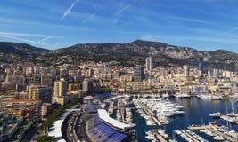 Puerto del yate en Mónaco Fotos de archivo libres de regalías