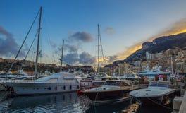 Puerto del yate en Mónaco Foto de archivo libre de regalías