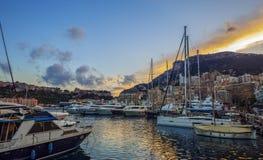 Puerto del yate en Mónaco Fotos de archivo