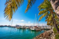 Puerto del yate en Miami la Florida Foto de archivo