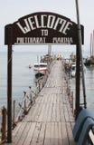 Puerto deportivo 02 de Phetcharat Foto de archivo libre de regalías