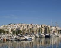 Puerto deportivo cerca de Atenas fotografía de archivo libre de regalías