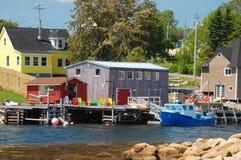 Puerto deportivo colorido Imágenes de archivo libres de regalías