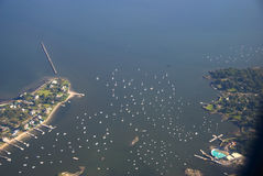Puerto deportivo costero Foto de archivo