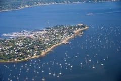 Puerto deportivo costero Imagen de archivo