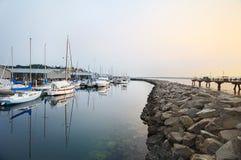 Puerto deportivo crepuscular Fotografía de archivo libre de regalías