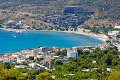 Puerto deportivo de Agia en Aegina, Grecia Imagen de archivo libre de regalías