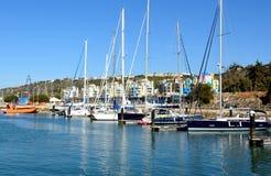 Puerto deportivo de Albufeira, Algarve, Portugal fotografía de archivo