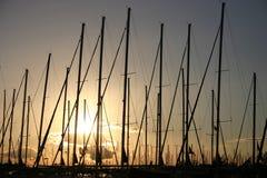 Puerto deportivo de Atenas en Alimos. Imágenes de archivo libres de regalías