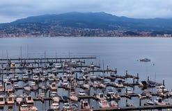 Puerto deportivo de Baiona Imagen de archivo libre de regalías