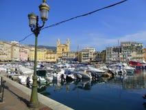 Puerto deportivo de Bastia imagen de archivo libre de regalías