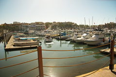 Puerto deportivo de Cabo San Lucas foto de archivo libre de regalías