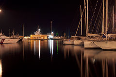 Puerto deportivo de Cagliari Fotografía de archivo