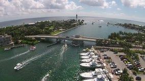 Puerto deportivo de Castal en la Florida metrajes