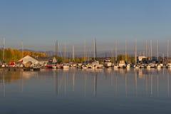 Puerto deportivo de Chatfield fotografía de archivo