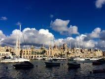Puerto deportivo de Cottonera Imagen de archivo libre de regalías