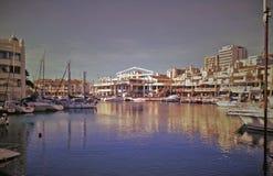 Puerto deportivo de Puerto Dena Costa del ¡de Benalmà Laga del ¡de Mà foto de archivo libre de regalías