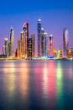 Puerto deportivo de Dubai. fotos de archivo