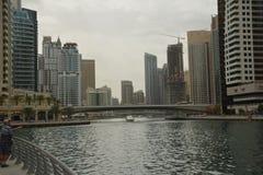 Puerto deportivo de Dubai Imagen de archivo libre de regalías