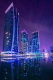 Puerto deportivo de Dubai y JLT Foto de archivo libre de regalías